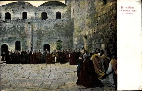 Ak Jerusalem Israel, 1re Station dans la caserne 0
