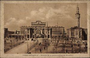 Ak Konstantinopel Istanbul Türkei, Ministère de la guerre et Tour du Séraskérat
