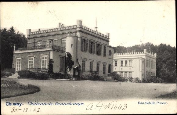 Ak Chimay Wallonien Hennegau, Château de Beauchamps
