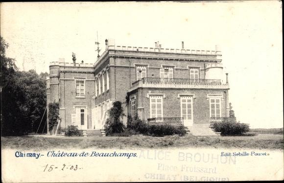Ak Chimay Wallonien Hennegau, Château de Beauchamps 0