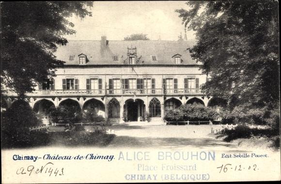 Ak Chimay Wallonien Hennegau, Château de Chimay