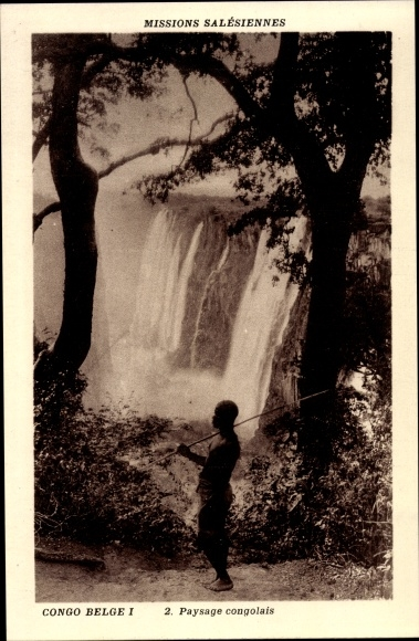 Ak Demokratische Republik Kongo, Paysage congolais, Wasserfall 0