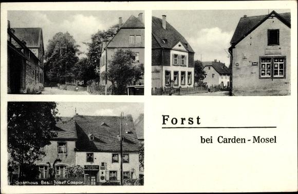Ak Forst Eifel, Dorfansichten, Geschäft, Gasthaus 0