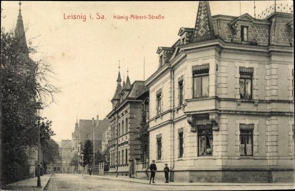 Ak Leisnig in Sachsen, König Albert Straße 0
