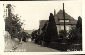 Foto Ak Rödinghausen Westfalen, Dorfstraße, Wohnhäuser