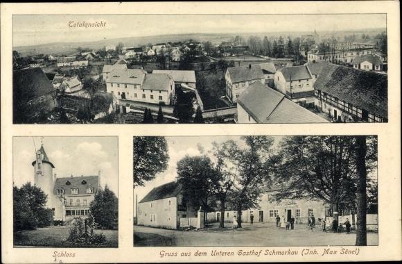 Ak Schmorkau Neukirch Sachsen, Schloss, Unterer Gasthof Schmorkau 0