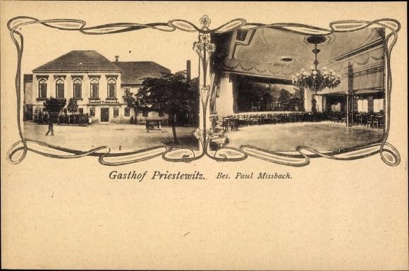 Ak Priestewitz Sachsen, Gasthof Priestewitz, Saal 0