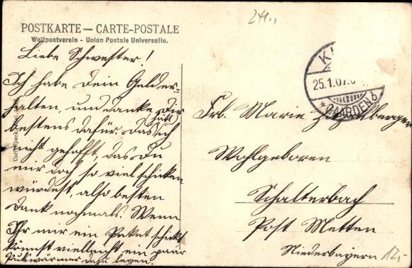 Ak Kiel, 1. & 4. Comp. Kais. I. Seebataillon, Etablissement Concordia, II. Kaserne, Kaisergeburtstag 1
