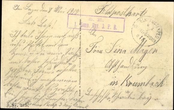 Ak Sainte Marie à Py Marne, Kriegszerstörungen, I. WK, Dt. Soldaten 1