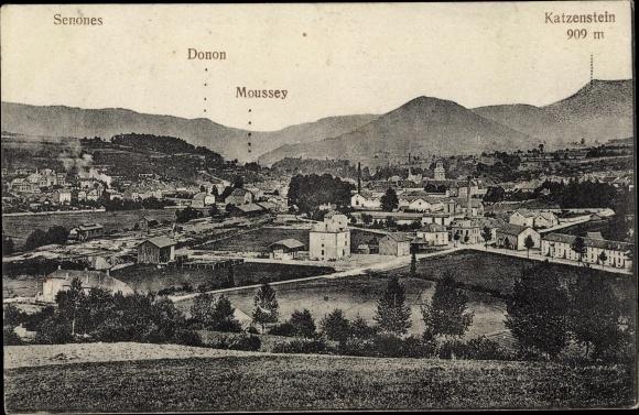 Ak Senones Lothringen Vosges, Vue générale, Donon, Mousseym Katzenstein 0