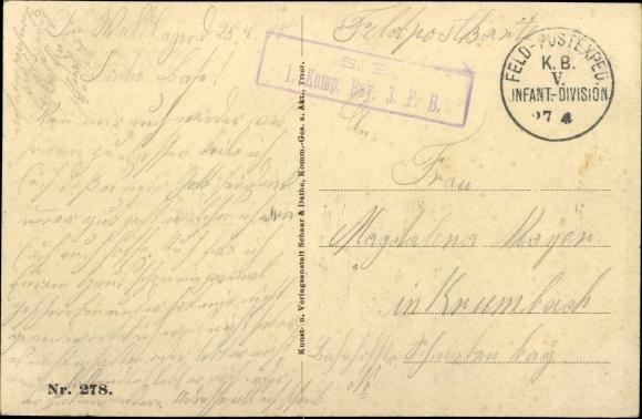 Ak Sainte Marie à Py Marne, Kriegszerstörungen, I. WK, Dt. Soldaten, Gruppenbild 1