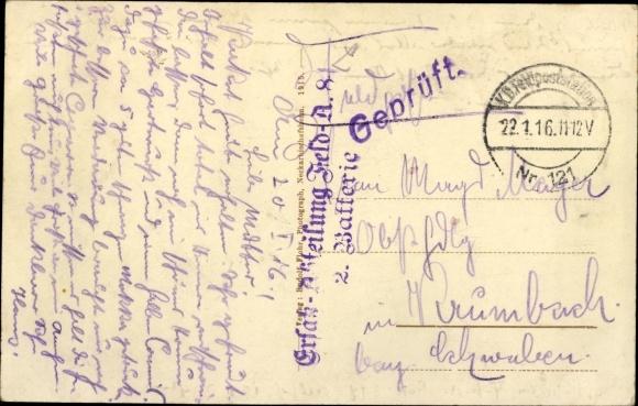 Ak Triembach au Val Elsass Bas Rhin, Soldatengrab nach d. Schlacht am 18. Aug. 1914 1