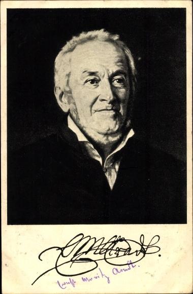 Künstler Ak Roeting, Julius, Ernst Moritz Arndt, Portrait 0