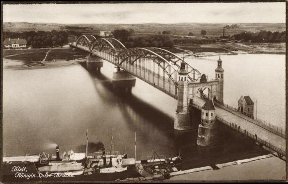 Ak Sowjetsk Tilsit Ostpreußen, Königin Luise Brücke 0