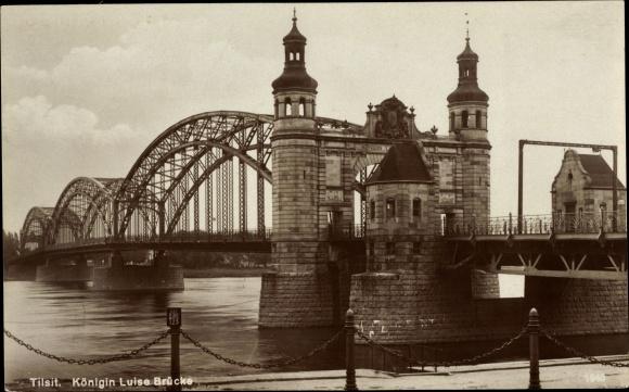 Ak Sowjetsk Tilsit Ostpreußen, Königin Luise Brücke