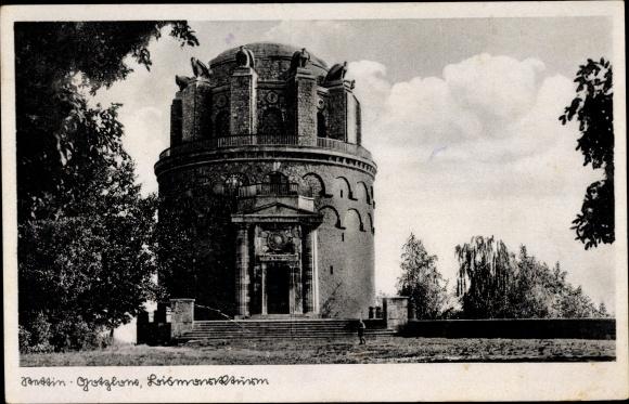 Ak Szczecin Stettin Gotzlow Pommern, Bismarckturm 0
