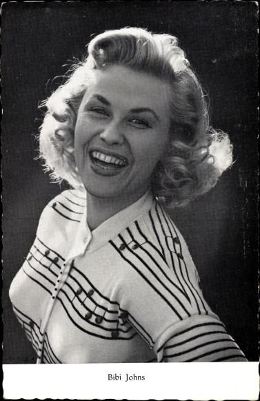 Ak Schauspielerin Bibi Johns, Portrait