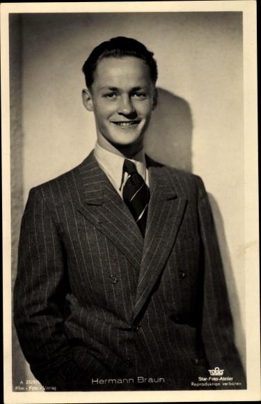 Ak Schauspieler Hermann Braun, Portrait