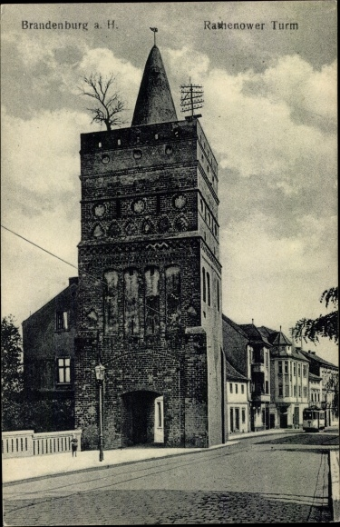 Ak Brandenburg an der Havel, Rathenower Turm 0