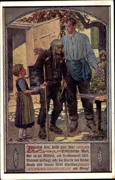Künstler Ak Kuderna, Franz, Deutsch sein heißt gut sein, Dt. Schulverein Nr. 805