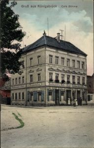 Ak Königsbrück in der Oberlausitz, Café Böhme, Konditorei