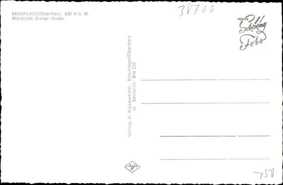 Ak Braunlage im Oberharz, Waldcafé Dieter Hucks 1