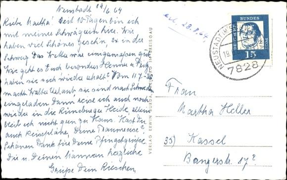 Ak Hinterzarten im Südschwarzwald, Adler Wirtshaus 1