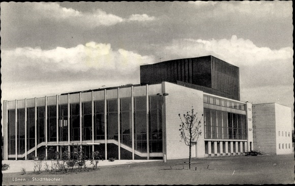 Ak Lünen in Nordrhein Westfalen, Stadttheater