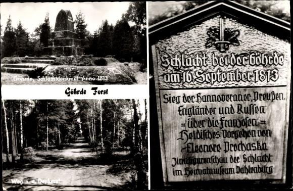 Ak Göhrde in Niedersachsen, Schlachtdenkmal 0