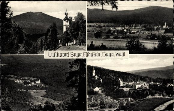 Ak Bayerisch Eisenstein in Niederbayern, Ortsansicht 0