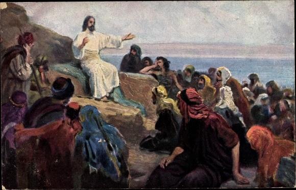 Künstler Ak Leinweber, R., Die Heilige Schrift, Serie VIII, Bild 1, Die Bergpredigt
