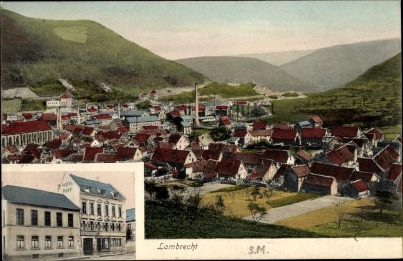Ak Lambrecht in der Pfalz, Totalansicht, Hotel Ruff 0