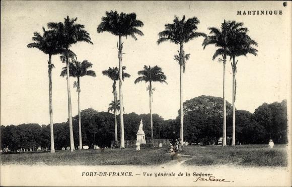 Ak Fort de France Martinique, Vue générale de la Sadone