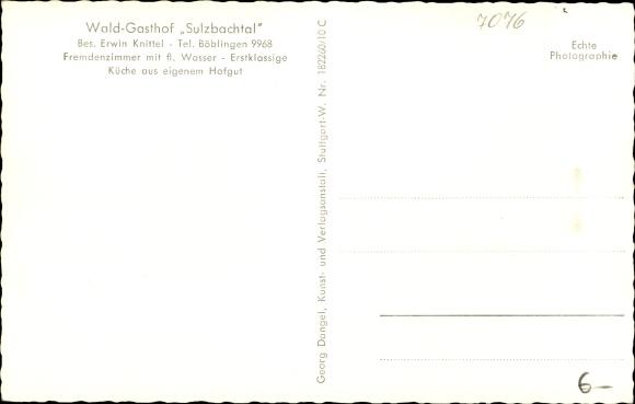Ak Schönaich in Baden Württemberg, Panorama vom Ort, Waldgasthof Sulzbachtal 1