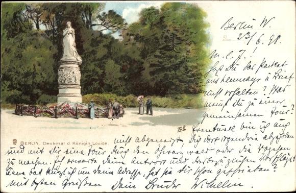 Künstler Litho Berlin Tiergarten, Denkmal der Königin Louise 0