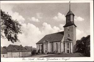 Ak Grünhain Beierfeld im Erzgebirge Sachsen, Ev. Luth. Kirche