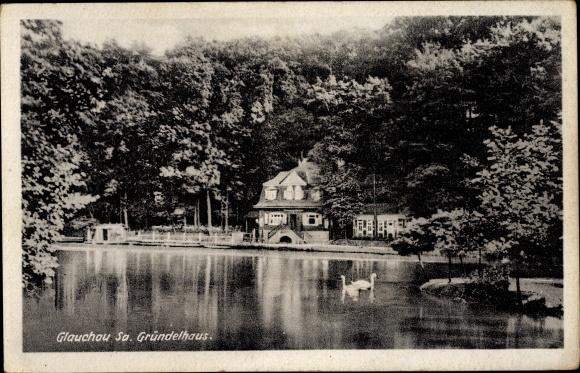 Ak Glauchau in Sachsen, Gründelhaus