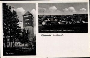 Ak Bärenstein Erzgebirge, Berghotel, Weipert, Mittlerer Ortsteil