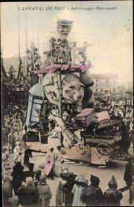 Ak Nice Nizza Alpes Maritimes, Carnaval de Nice, Atterissage Mouvemente