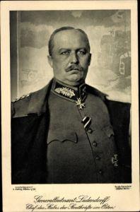 Ak General Erich Friedrich Wilhelm Ludendorff, Portrait