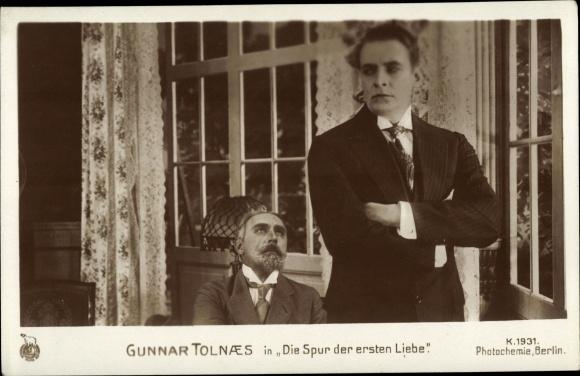 Ak Schauspieler Gunnar Tolnaes, Filmszene Die Spur der ersten Liebe