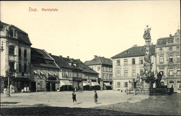 Ak Duchcov Dux Region Aussig, Marktplatz