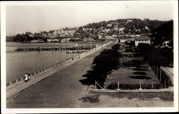 Ak Milon Fort de France Martinique, Les jardins