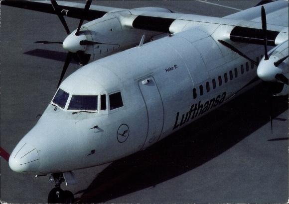 Ak Fokker 50, Lufthansa, Passagierflugzeug