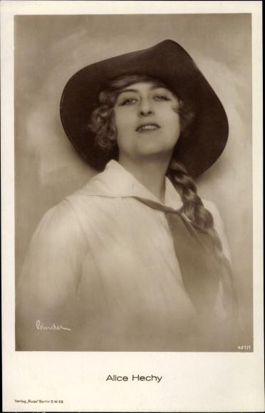 Ak Schauspielerin Alice Hechy, Portrait, Ross Verlag 421 1