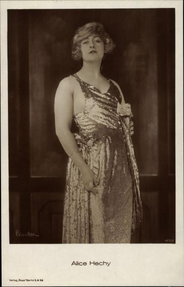 Ak Schauspielerin Alice Hechy, Portrait