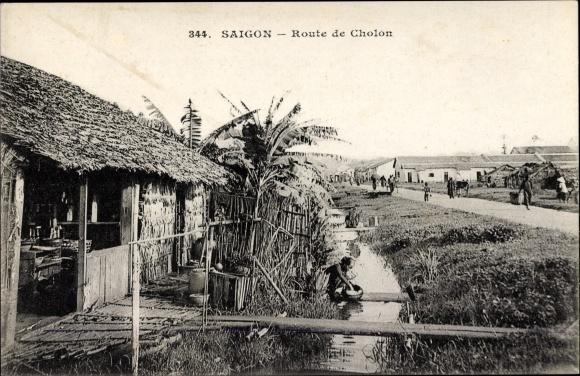 Ak Saigon Cochinchine Vietnam, Route de Cholon