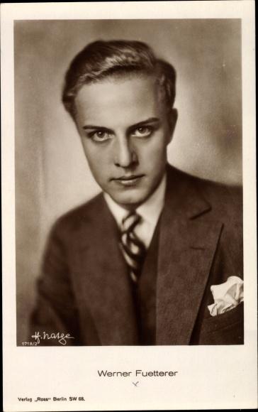 Ak Schauspieler Werner Fuetterer, Portrait in Hut