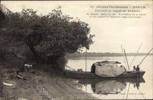 Ak Dakar Senegal, Afrique Occidentale, Comment on voyage sur les fleuves