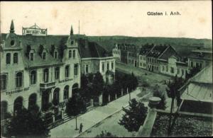 Ak Güsten Sachsen Anhalt, Thüringer Hof, Teilansicht der Stadt
